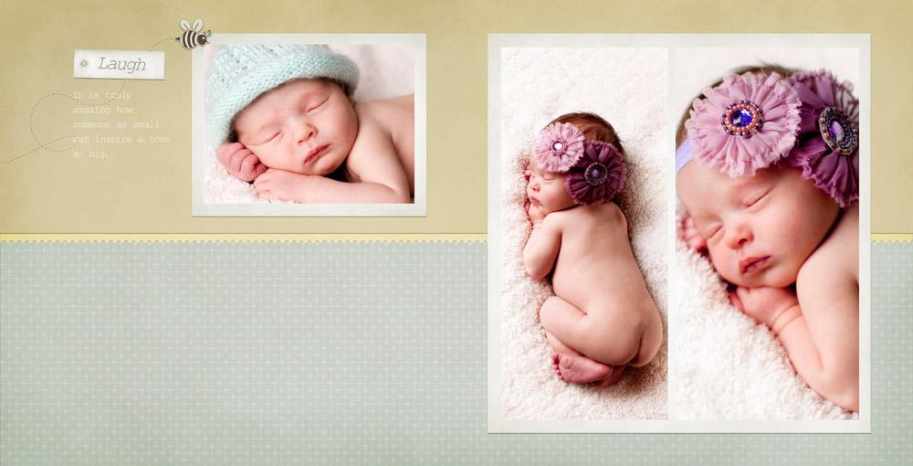 Baby Claire - Newborn Album Design - J&A Photography