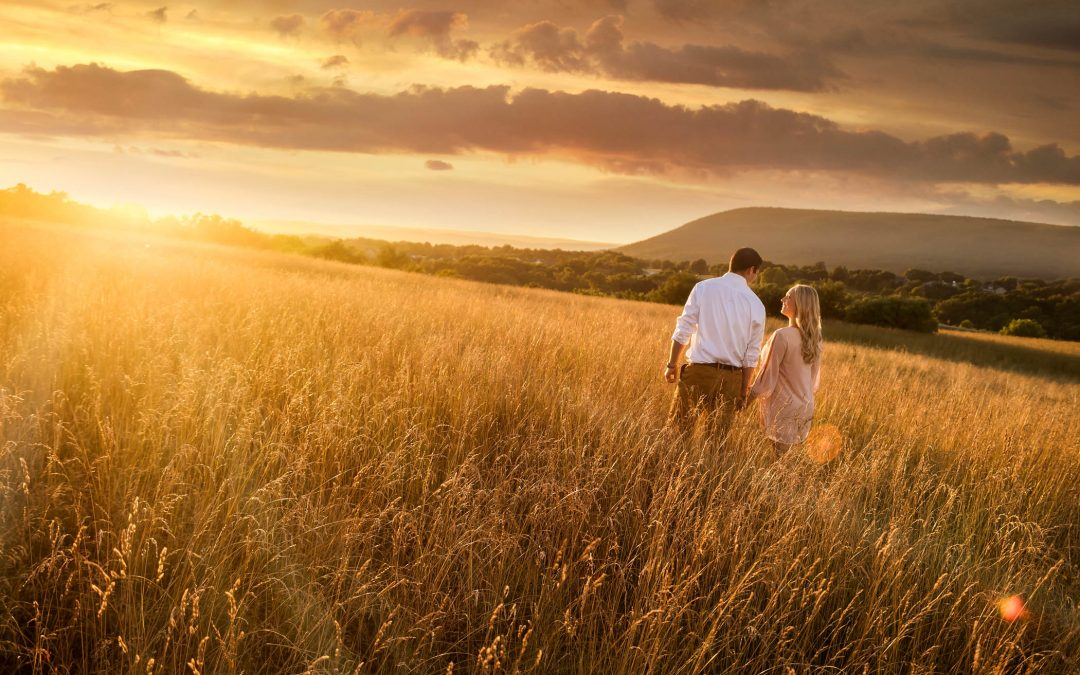 Natalie & Jason – Harvest Fields Engagement Shoot